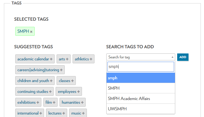 Add the smph tag